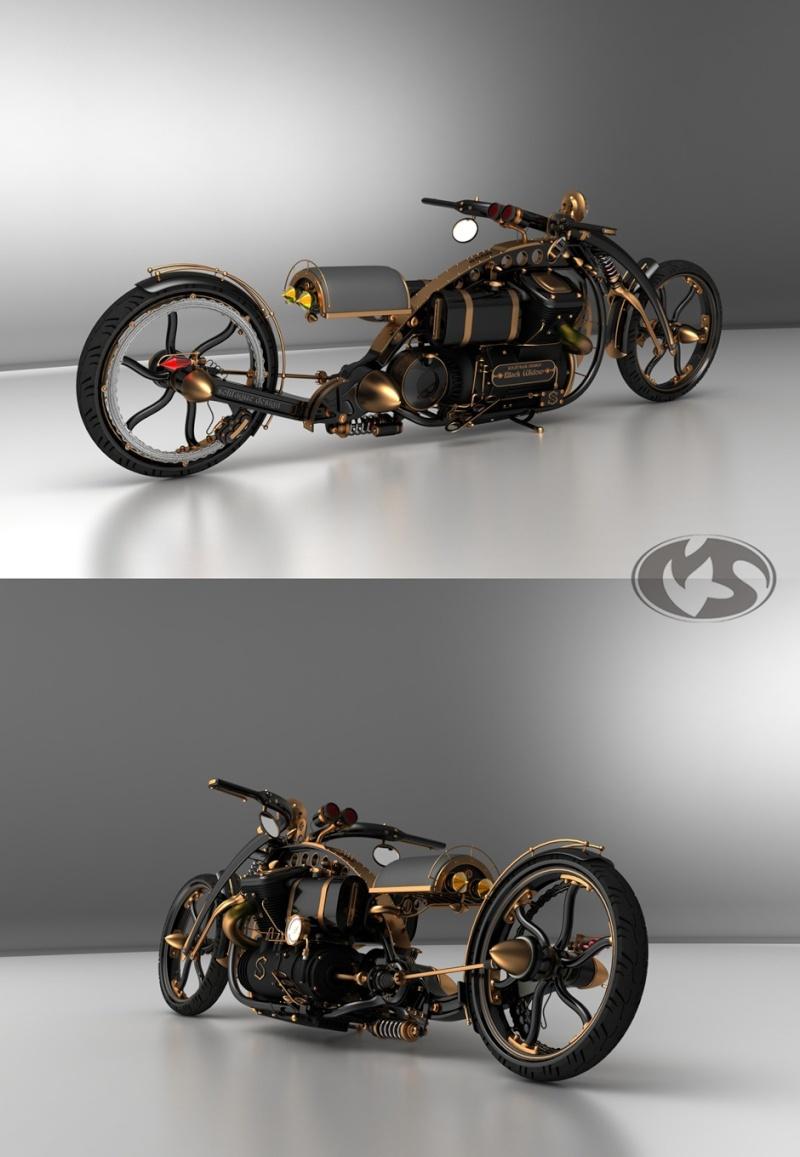 Idées : Moto Steampunk Custom10