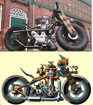 Idées : Moto Steampunk Steamd10