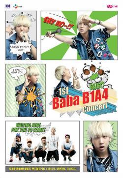 [121017] Les B1A4 informent de leur 1er concert exclusif à travers des bandes dessinées Baro0210