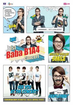 [121017] Les B1A4 informent de leur 1er concert exclusif à travers des bandes dessinées Cnu0210