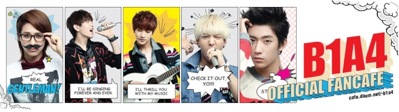 [121017] Les B1A4 informent de leur 1er concert exclusif à travers des bandes dessinées Fancag10