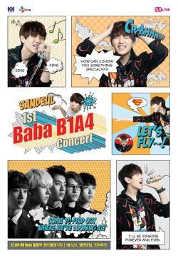 [121017] Les B1A4 informent de leur 1er concert exclusif à travers des bandes dessinées Sandeu10