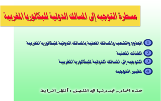 معلومات ومتطلبات التوجيه إلى المسالك الدولية للبكالوريا المغربية O-ouau10