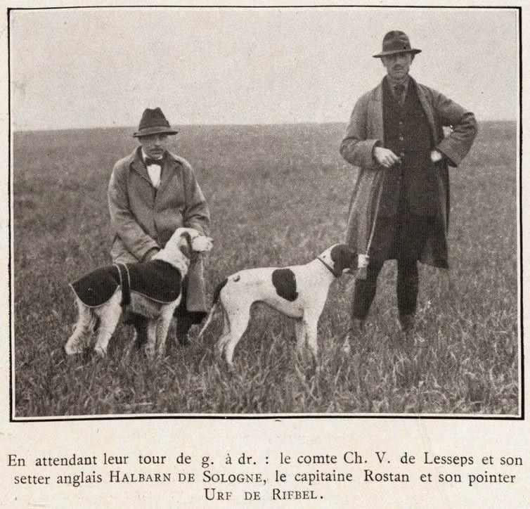M. Charles de Lesseps, premier Secrétaire-Trésorier du Retriever Club... Lessep12