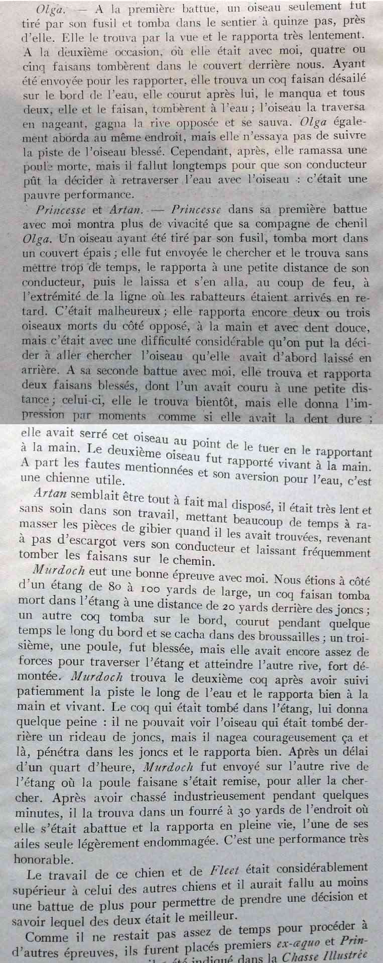 1e field-triald du Retriever-Club, notes du Juge M. Smale... Smale210