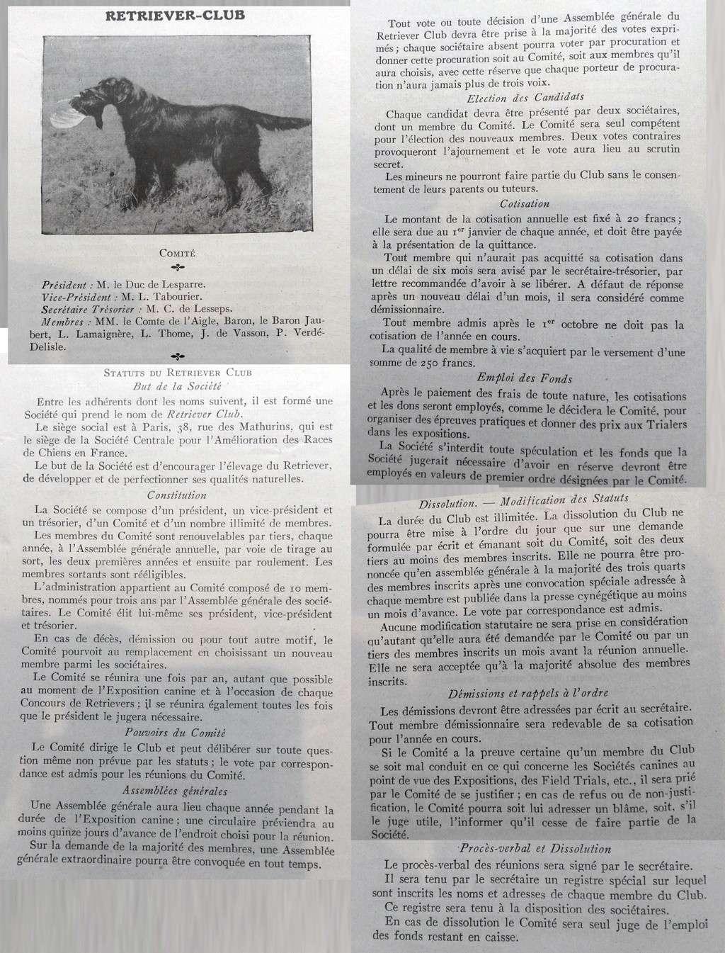 Premiers statuts du Retriever-Club... Statut10