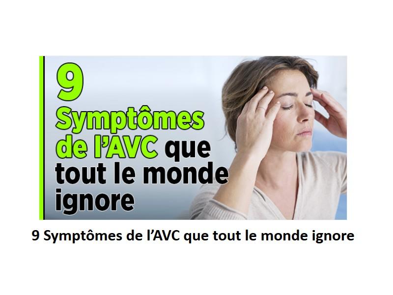 9 SYMPTOMES DE L'AVC   que tout le monde ignore Sans_t27