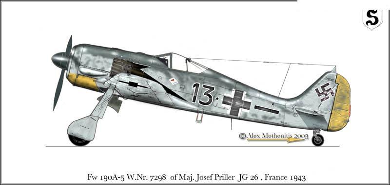 Focke-Wulf Fw-190A-5 + BMW-327 Pips Priller 13629910