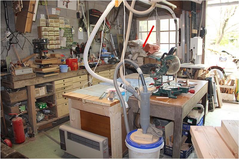 Aménagements atelier - 1 - Plan de travail sous la fenêtre. Img_8510