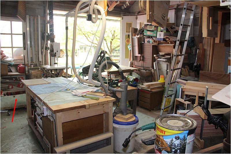 Aménagements atelier - 1 - Plan de travail sous la fenêtre. Img_8511