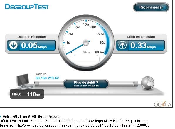 [HS-Internet] besoin d'avis sur la connexion Internet via satellite   Debit10