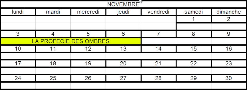 Calendrier des Raids Nov10