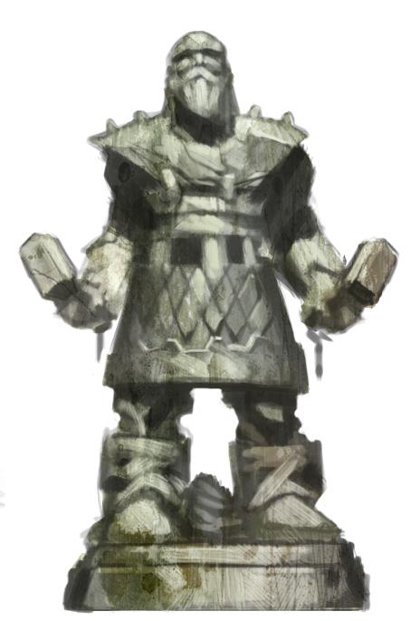 Helferth, ancien Dieu (nain), père de tous les Nains Statue10
