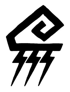 Hvitr, Dieu (humain) des Orages et de la Justice Symbol11