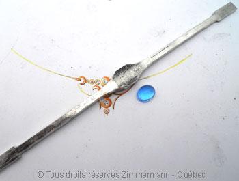 Bracelet argent rigide ouvert Topaze bleue Brac0111