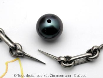 Collier perles de tahiti et or monté sur cable...qui casse...et recasse. Help! Montag10