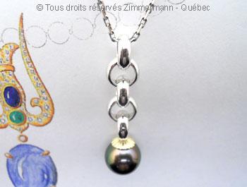 Perle Tahiti de 10,37 mm sur argent et or Peaota14