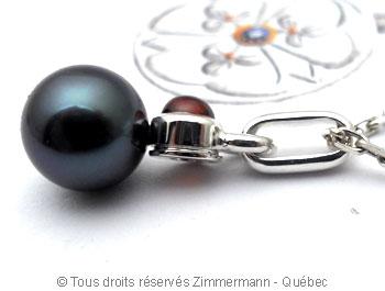 Perle de Tahiti 8,65 mm et Grenat Onissa 4 mm Peatac13