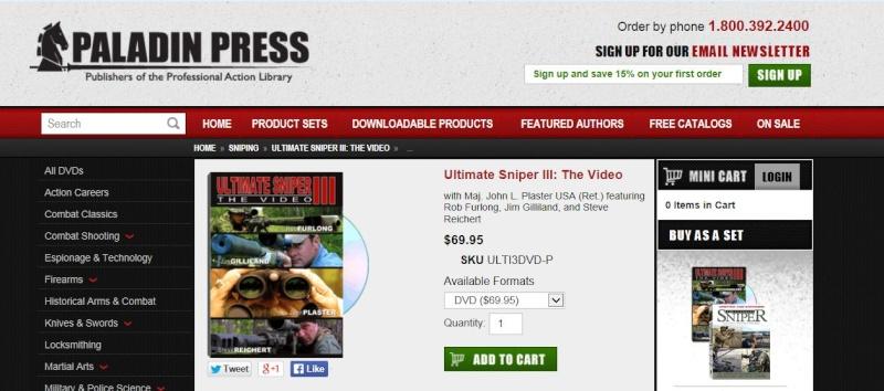 un site de vente de livres ( en anglais) sur le combat, les snipers ,le close combat , etc.. Captur14