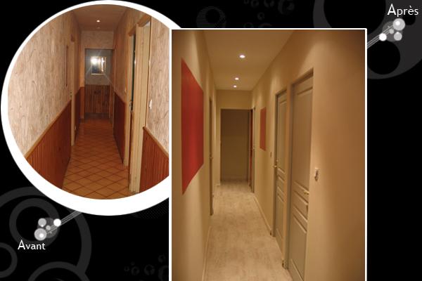 Peinture d'un couloir étroit et assez long Deco12