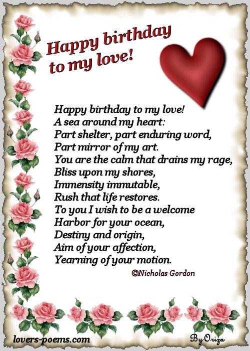 Happy Birthday My Love Fallen