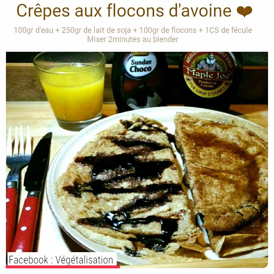 crêpes aux flocons d'avoine Crepe10