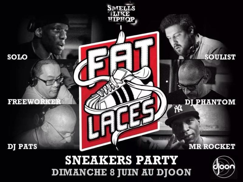8 Juin Fat laces sneakers Party au Djoon Paris  10385410