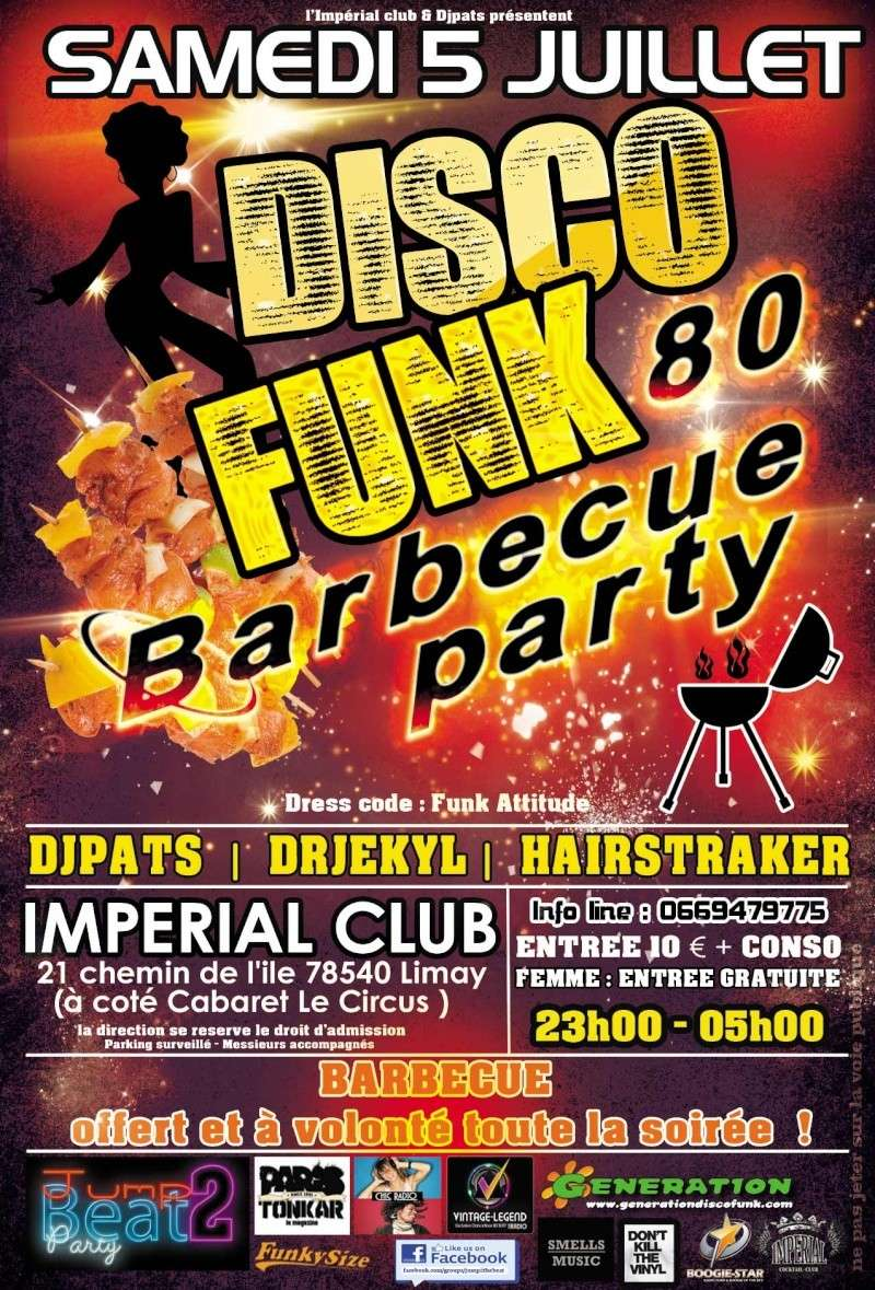 5 Juillet Jump to the Beat Disco Funk Barbecue Party  Rouge_10