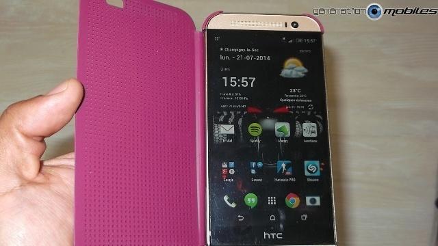 [HOUSSE] Dot view - HTC One M8 - présentation perso Tel_al10
