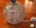 Need an ID - MCM Clear Crystal Geometric Lamp Base 20140813