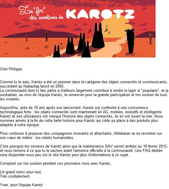La fin de Karotz annoncée au 15 février 2015 Fin_ka10