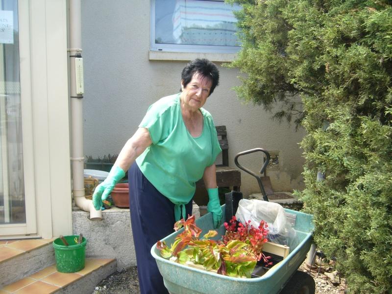 Merci Paulette !!! notre spécialiste es fleurs au refuge P1220112