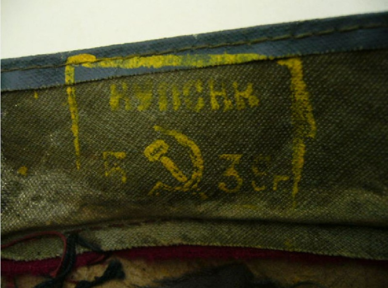 Casquette d'infanterie Soviétique M35 Img_7313