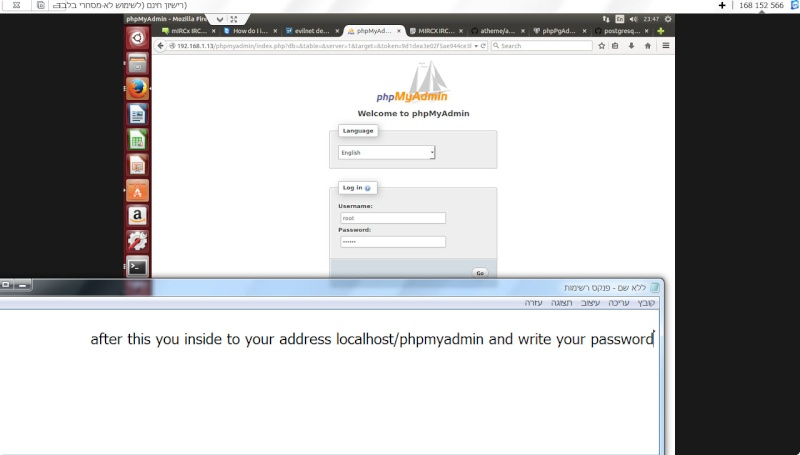 Guide install PhpmyAdmin in ubuntu  13-12-11