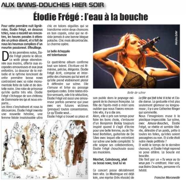 Elodie Frégé : L'eau à la bouche (29 mai 2014) Elo10
