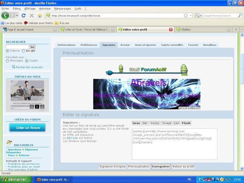 Problème de signature (image) à mettre sur le forum des forumactifs Scream10