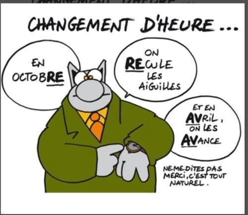 Histoire du changement d'heure  Change10