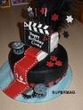 Gâteau déco/ pâte à sucre Cine10