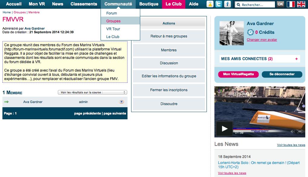 Le groupe FMVVR sur Virtual Regatta Captur10