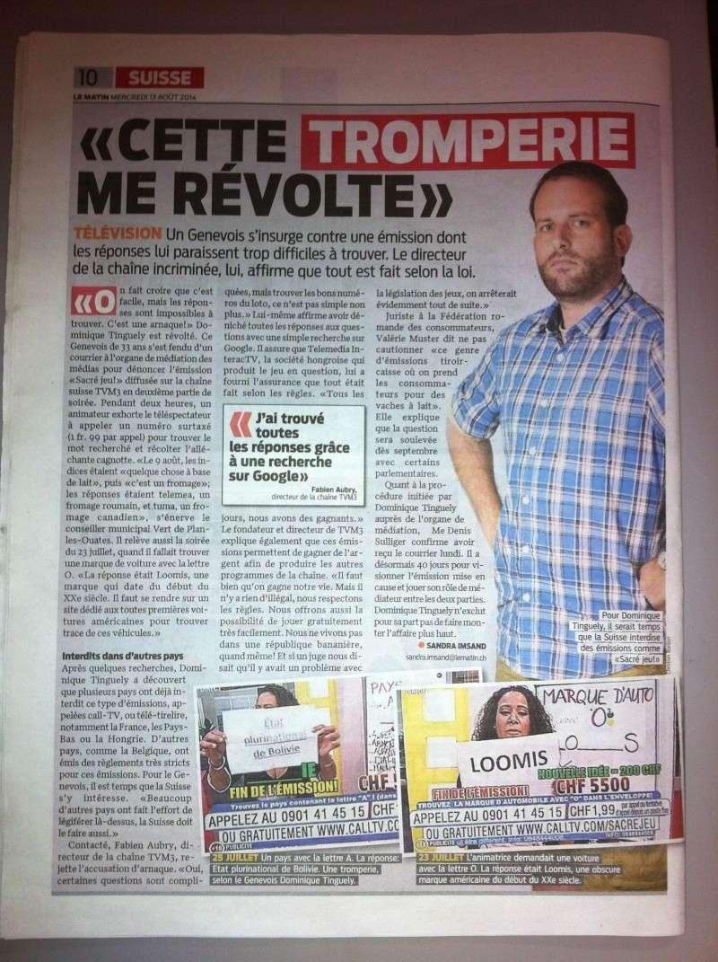 Retour de la CallTV sur TVM3 - Page 3 Lemati11