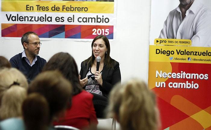 En la Provincia, Vidal profundiza su campaña. 001104