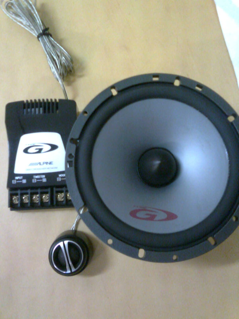Alpine SPG17CS 6.5 2way Component spk(new)  A110