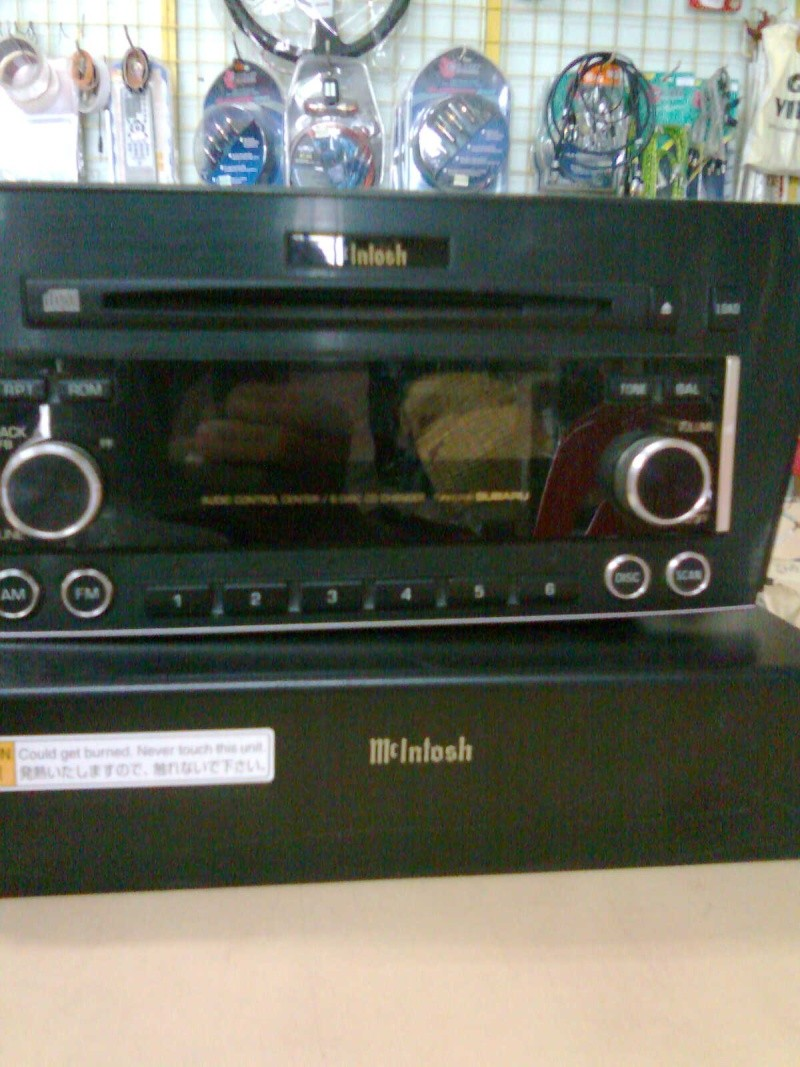 Mcintosh 6 disc head unit & power amp(used)sold Aa073910