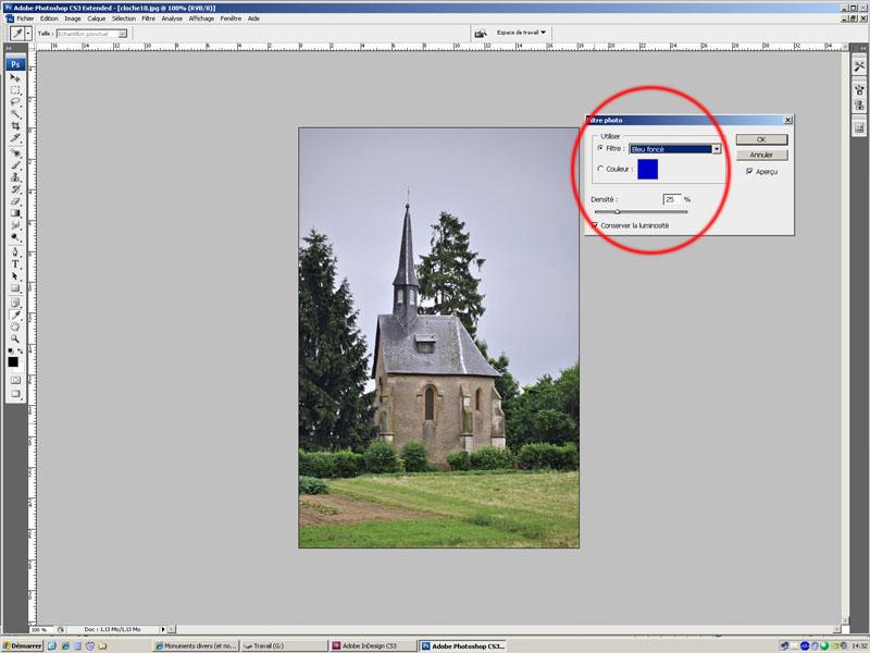 Utilisation des filtres photos. Cloche10