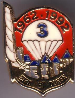 Différents insignes concernant le 3 3rpima17