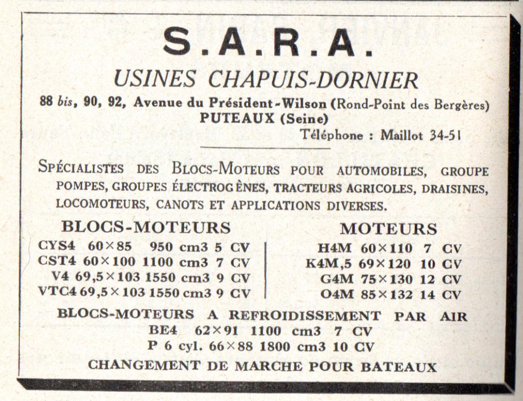 Moteur de cyclecar et voiturette - Page 8 Sarac10