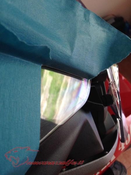 BMW K50 R1200GS LC Eliminare rigature cupolino m.y. 2014 Max45488
