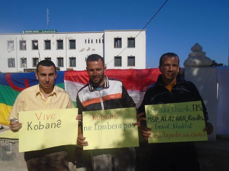 Journée mondiale de soutien à «KOBANÊ» : Manifestation le 1er novembre 2014 à Aokas 10408912