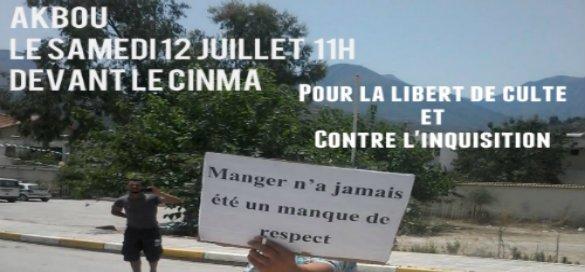 Akbou: Rassemblement pour la liberté de conscience et contre l'inquisition le samedi 12 juillet 2014 à 11h 10520011