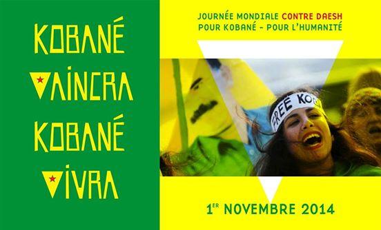 Journée mondiale de soutien à «KOBANÊ» : Manifestation le 1er novembre 2014 à Aokas 1101
